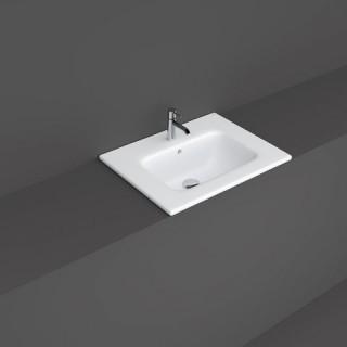 RAK CERAMICS Joy Umywalka 61x47 cm wpuszczana, biały połysk