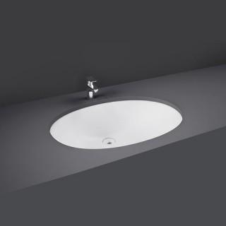 RAK CERAMICS Rosa Umywalka 57x42 cm podblatowa, owalna, biały połysk