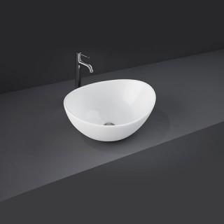 RAK CERAMICS Reema Umywalka 40x33 cm nablatowa, owalna, biały połysk