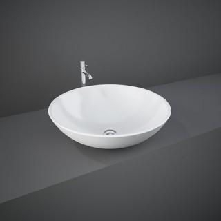 RAK CERAMICS Diana Umywalka 45 cm nablatowa, okrągła, biały połysk