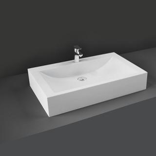 RAK CERAMICS Scoop Umywalka 65x42 cm nablatowa, prostokąt, biały połysk