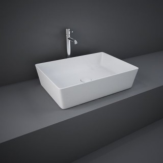 RAK CERAMICS Feeling Umywalka 50x36 cm nablatowa, prostokątna, biały mat